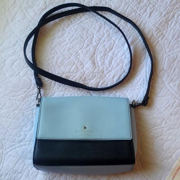 Kate Spade Blue & Black Crossbody Custom